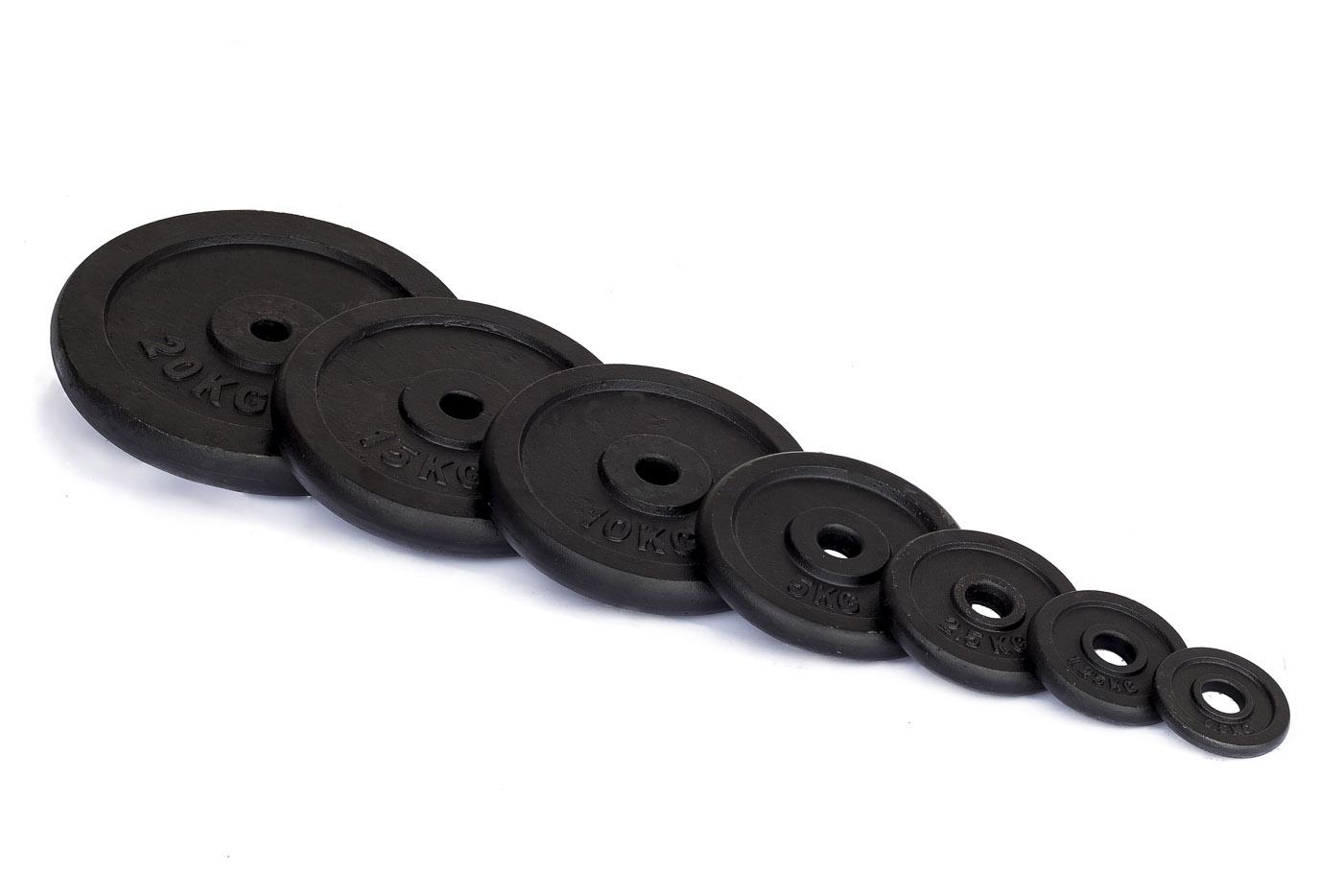 Kotouče na činky TRINFIT litina 10 kg / 25 mm