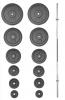 Nakládací činka PREMIUM kovová 115 kg