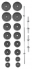 Set činek TRINFIT PREMIUM XL kovový 90 kg