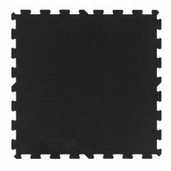 TRINFIT Sportovní gumová podlaha do fitness_puzzle_100_100_černág