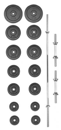 Set činek TRINFIT PREMIUM XL kovový 70 kg
