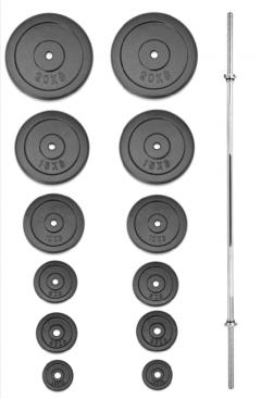 Nakládací činka TRINFIT PREMIUM XL kovová 115 kg