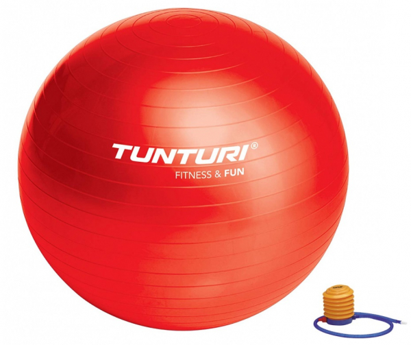 Gymnastický míč TUNTURI s pumpičkou červený