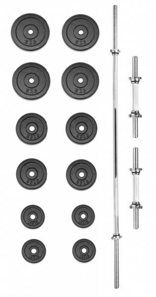 Set činek TRINFIT PREMIUM XL kovový 50 kg