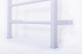 Ribstole kovové s hrazdou bílá upevnění