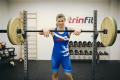 Profesionální olympijská osa TRINFIT 2200 mm BLACK Competition promo 3