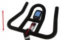 BH Fitness Super Duke Magnetic nastavení řídítek